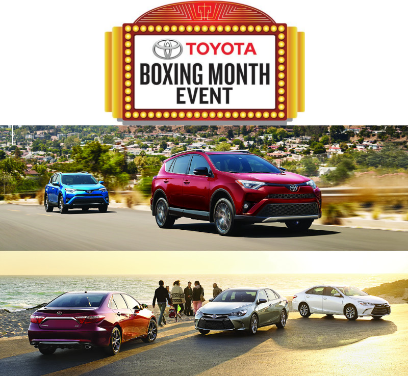 Boxing Month: Toyota Canada Incentives for January 2017