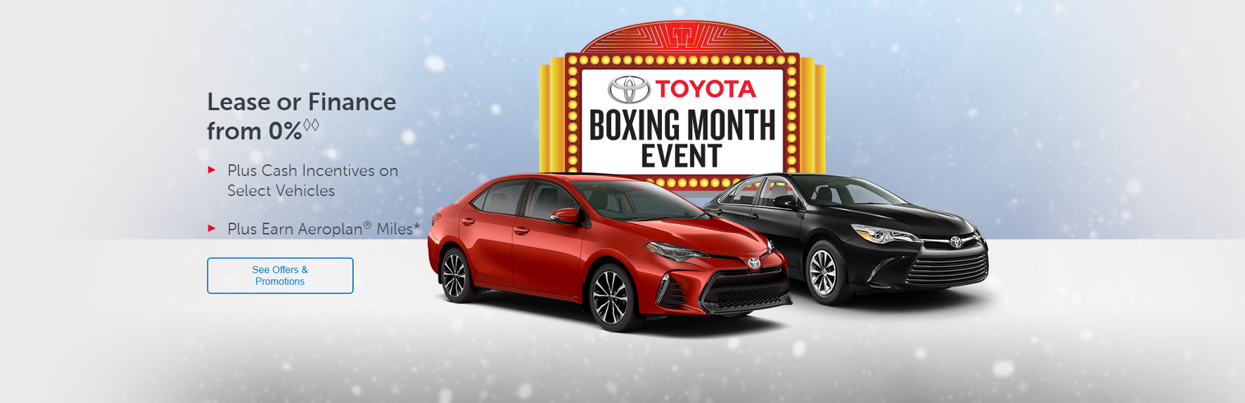 Toyota Boxing Month Event: Toyota Canada Incentives in Toronto