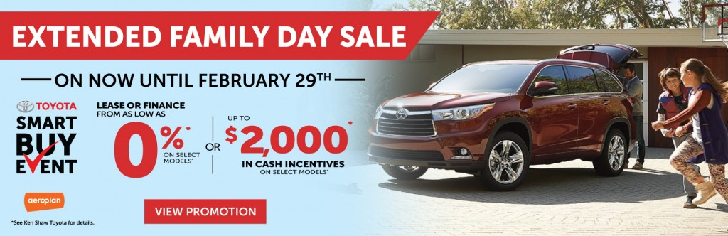 TOYOTA SMART BUY EVENT SALES - FAMILY DAY PROMOTION