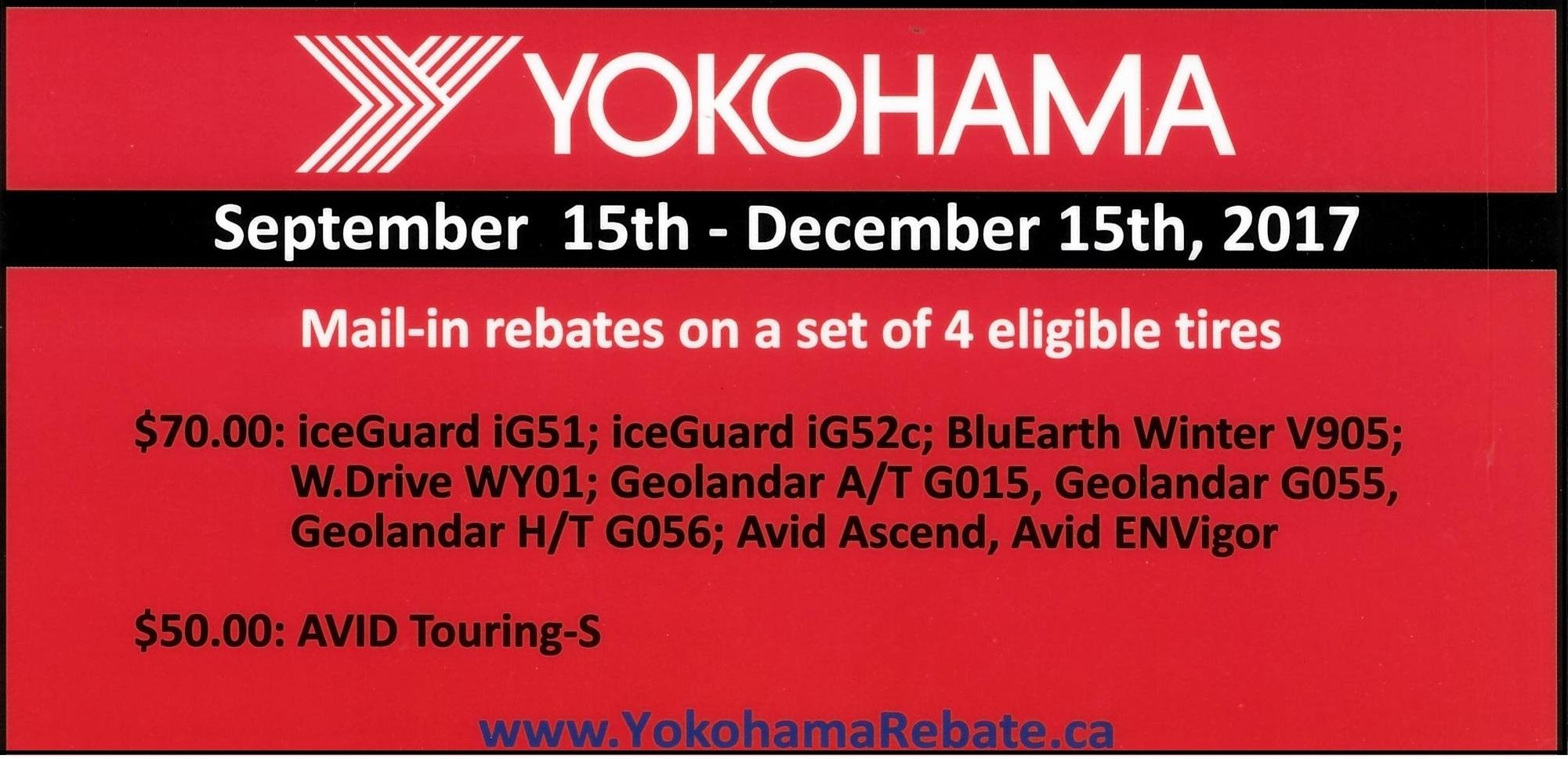 2017 Winter Yokohama Ken Shaw Lexus Toyota Tire Rebates